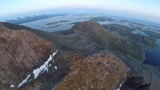 Norwegian Midnight Sun - Drone Footage - Video