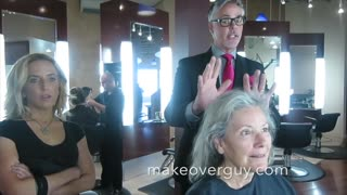 Makeover Guy Helps Gray-Haired Woman Age Gracefully