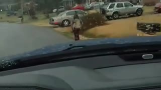 Great job Dad... (Bryan Thornhill) makes bully son run to school in rain - Video