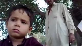 Cute baby talking about his life - Video