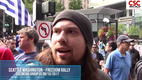 Triggered Protesters Cannot Explain Why Me Or The Proud Boys Are Nazis At Seattle Freedom Rally