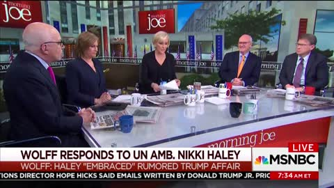 Watch as Mika Brzezinski Confronts Michael Wolff About Haley Remarks