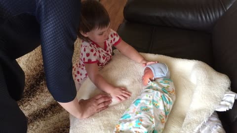 The sister first saw her younger brother