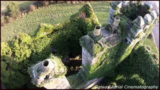 Amazing drone footage of Medieval castle