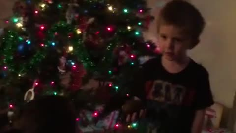 Kid gets avocado for Christmas, thinks it's coal
