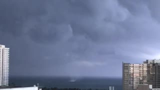 Waterspout Spotted on Miami Beach - Video