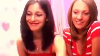 2 girls fooling around on webcam :)) - Video