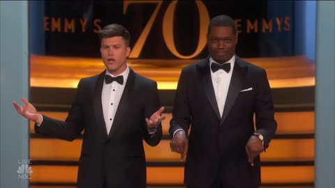 Colin Jost and Michael Che Race-Themed Emmys Opening Monologue