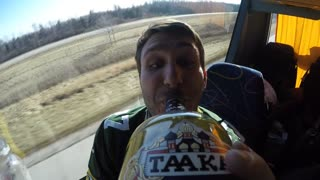 Vodka bottle passed around with attached GoPro