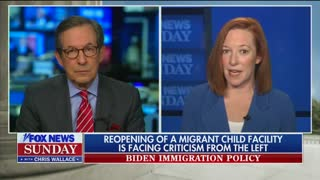 Chris Wallace Presses Psaki On Border Policy
