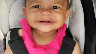 Baby girl says her first words on camera - Video