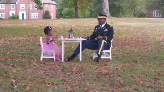 Very special father-daughter tea party - Video