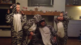 We Wish You a Merry Christmas zebra style