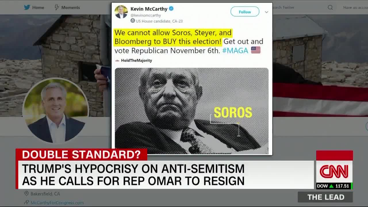 Michael Berry - Jake Tapper suggests Trump is an antisemite like Ilhan Omar
