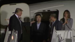 President Trump Welcomes Freed North Korean Detainees - Video
