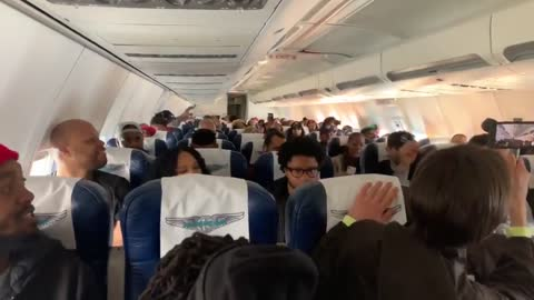 Kanye's Sunday Service Breaks Into Song On A Plane