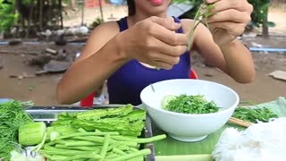 Primitive Technology_ Cooking skill food recipe _ Cooking skill _ Khmer Survival Skills