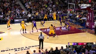 LeBron James' Pass Nails D'Angelo Russell In the Nuts - Video