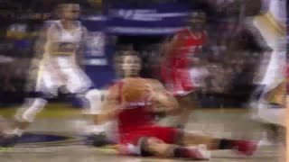 Blake Griffin Throws Shoe, Nails Cory Joseph in the Face - Video
