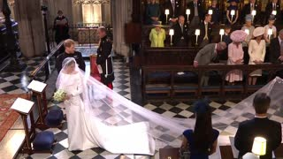 Royal Entrance At The Wedding Of Meghan Markle and Prince Harry - Video