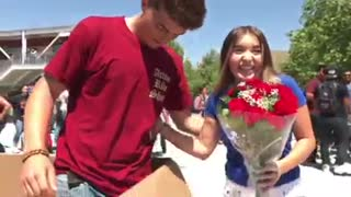 Inventive Teenager Pulls Off Epic Flash Mob Prom Proposal