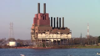 Marysville, Michigan Power Plant Destruction - Video