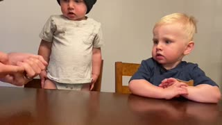 Twins Have No Self Control for Fruit Snacks