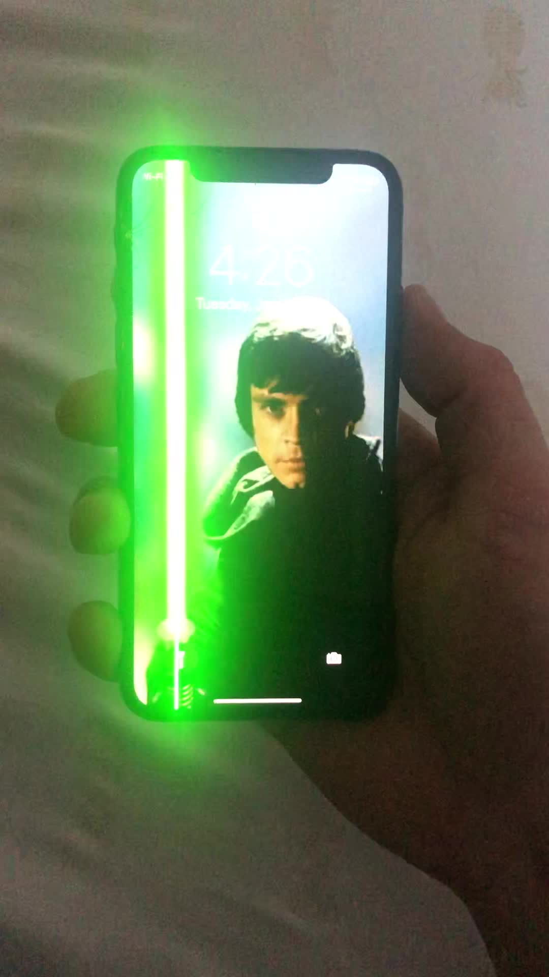 Broken Phone Becomes Perfect Background Image