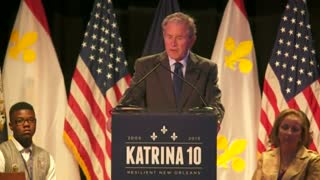 Bush praises resilience of New Orleans schools on Katrina anniversary - Video