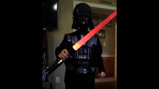 Darth vader falls on sister - Video