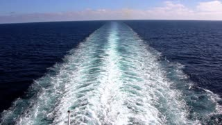 Sea Water Ship Wave Blue Sea Voyage Cruise - Video