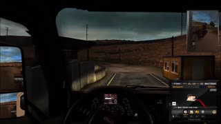 American Truck Simulator with G27 steering wheel - Video