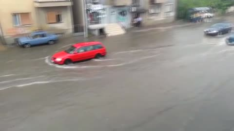 Floods in Skopje, Macedonia