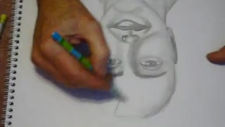 Speed drawing a face