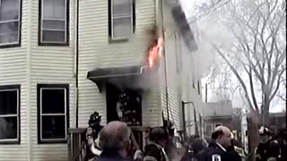 Dogs Rescued & Resuscitated From a 2nd Alarm House Fire Paterson, NJ - Video