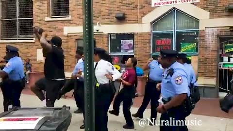 Philadelphia Police 18th District Dance To 'The Electric Slide'