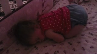 Toddler sleeping peacefully... and snoring!  - Video