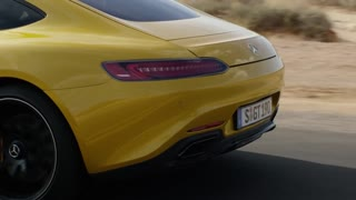 2016 Yellow Mercedes AMG GT Road Drive - Video