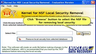 NSF Local Security Removal software - Video