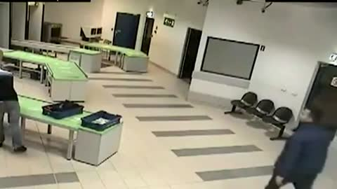 Heroic Security Officer Makes Impossible Catch To Save Baby