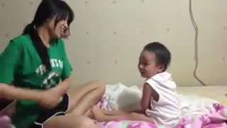 Mother And Child Practice Kungfu - Video