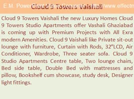 Cloud 9 Towers Vaishali, 9899303232// Cloud 9 Vaishali Ghaziabad, Cloud 9 Studio Apartments - Video
