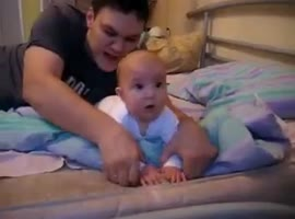 Father and baby-sweet :) - Video