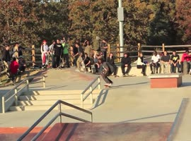 Funny Skateboard Collisions and Impressive Tricks! - Video
