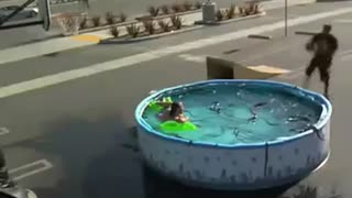 Kobe Bryant Jumps Over Pool of Snakes!! - Video