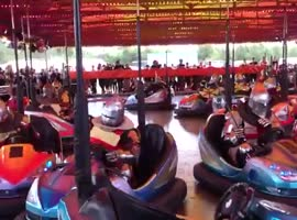 Knightly battle with bumper cars