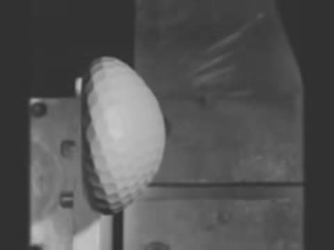 Golf Ball Hits Steal at 150 MPH In 70000 FPS