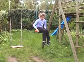 -Girl on Swing Set Fail-