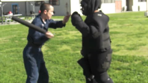 Soldier's Intense Pepper Spray Training