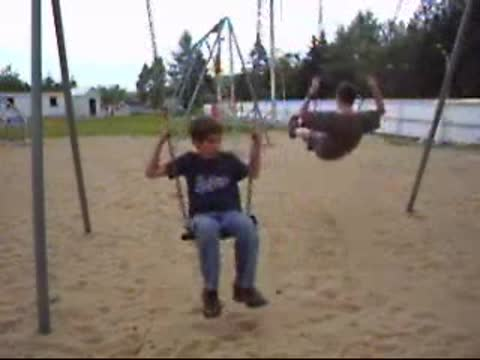 Falling from a swing